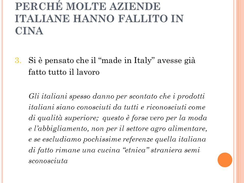 Perché molte aziende italiane hanno fallito in Cina