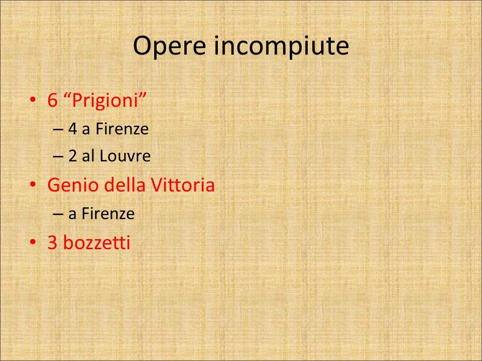 Opere incompiute 6 Prigioni Genio della Vittoria 3 bozzetti