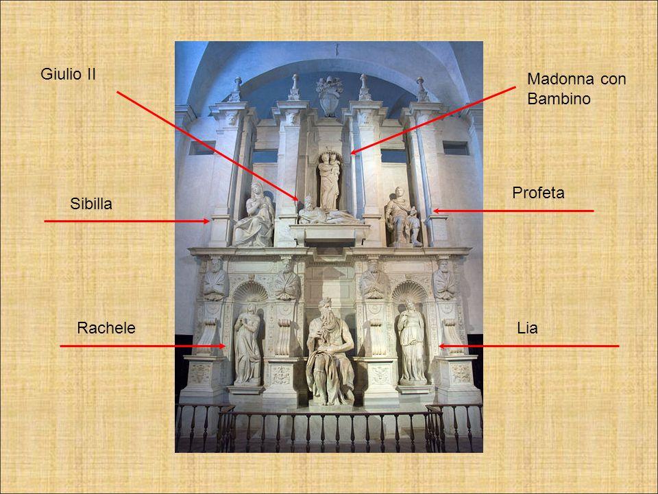 Giulio II Madonna con Bambino Profeta Sibilla Rachele Lia