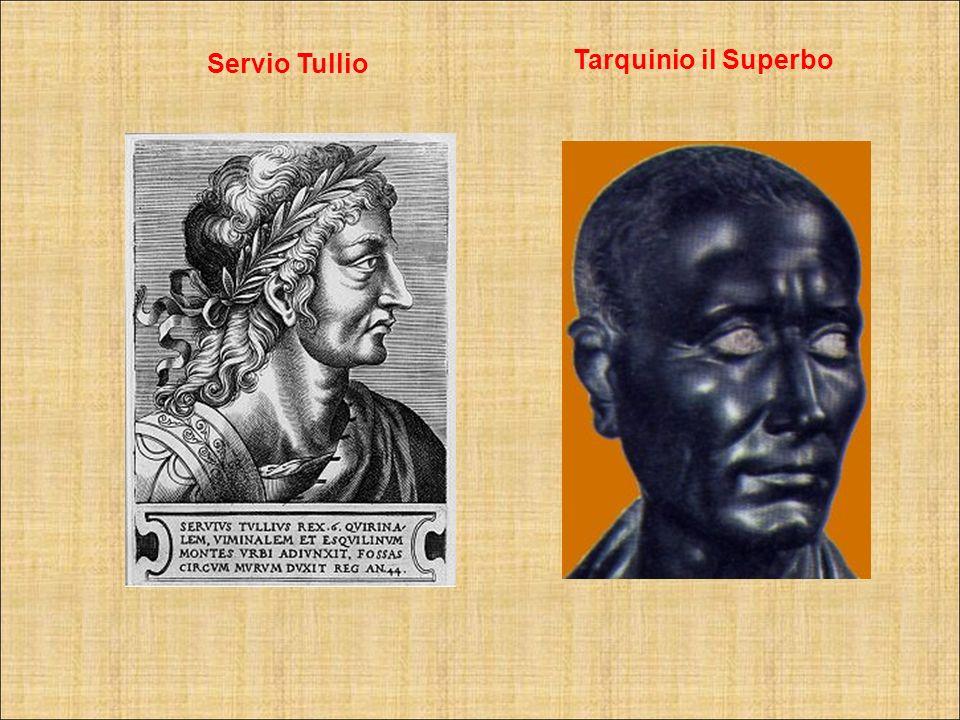 Servio Tullio Tarquinio il Superbo