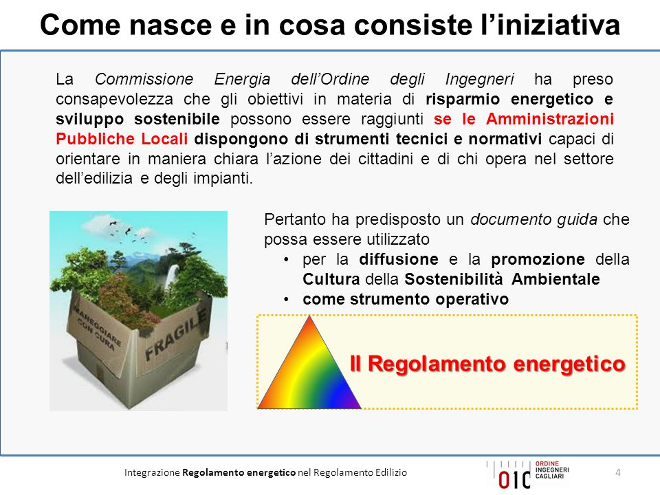 Come nasce e in cosa consiste l'iniziativa Il Regolamento energetico