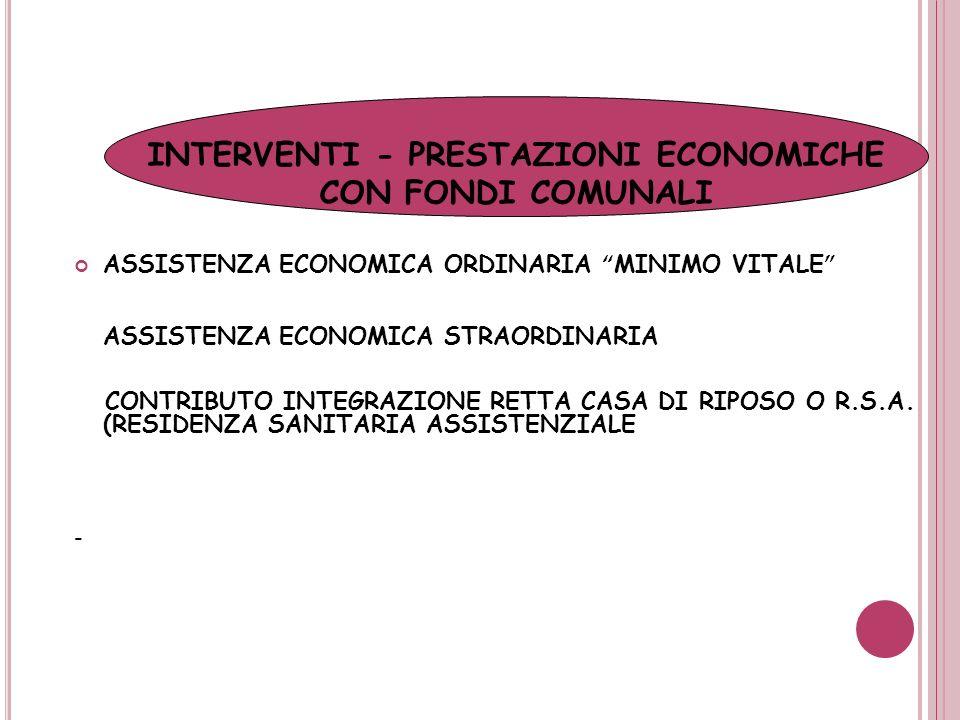 INTERVENTI - PRESTAZIONI ECONOMICHE