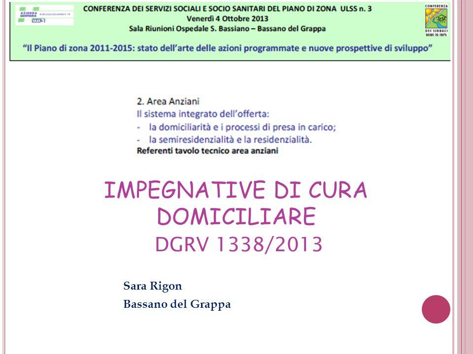 IMPEGNATIVE DI CURA DOMICILIARE DGRV 1338/2013