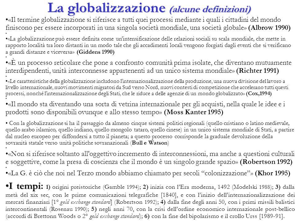 La globalizzazione (alcune definizioni)