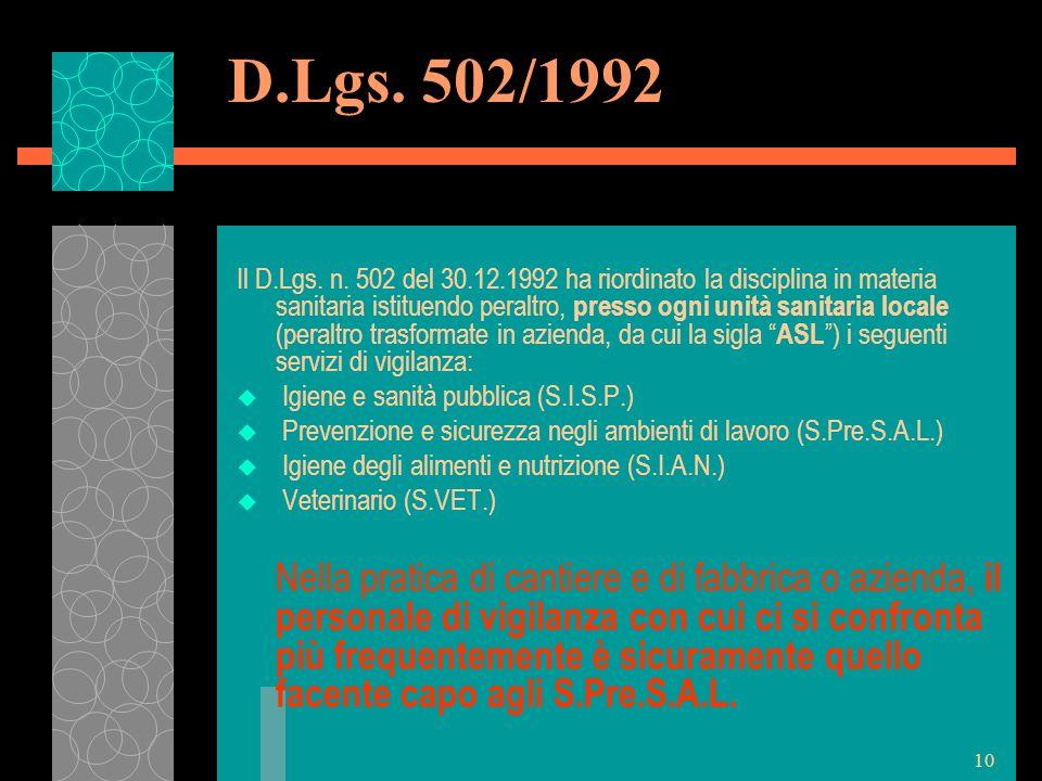 D.Lgs. 502/1992