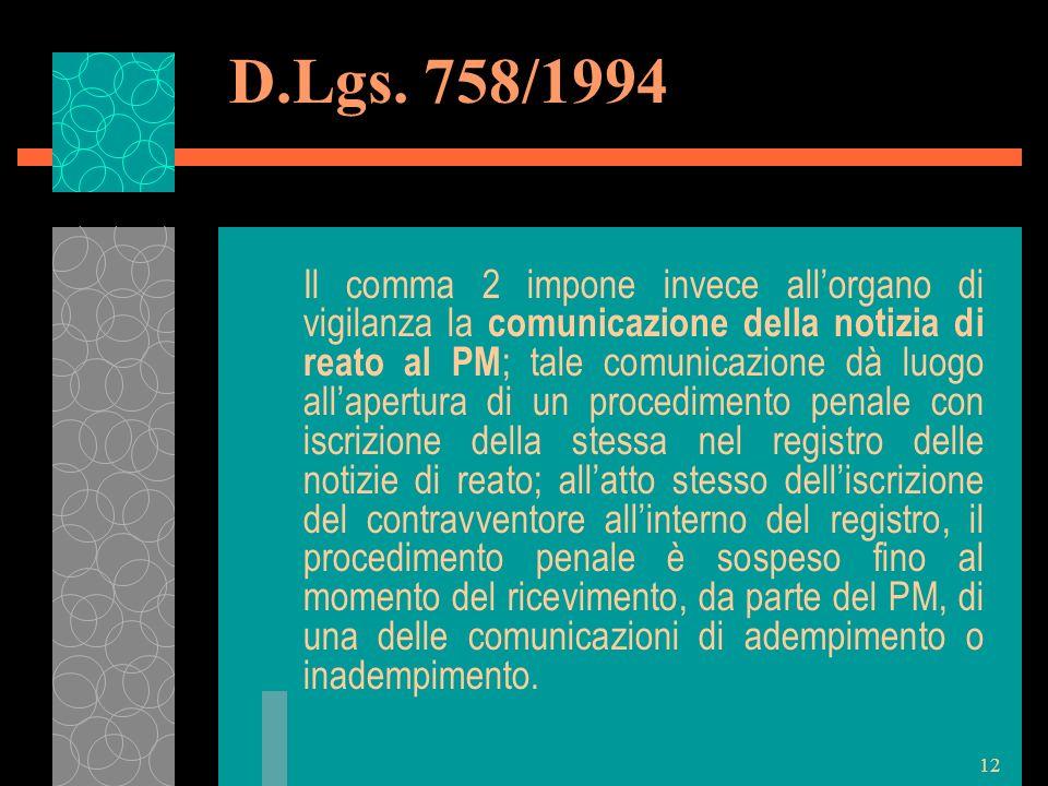 D.Lgs. 758/1994