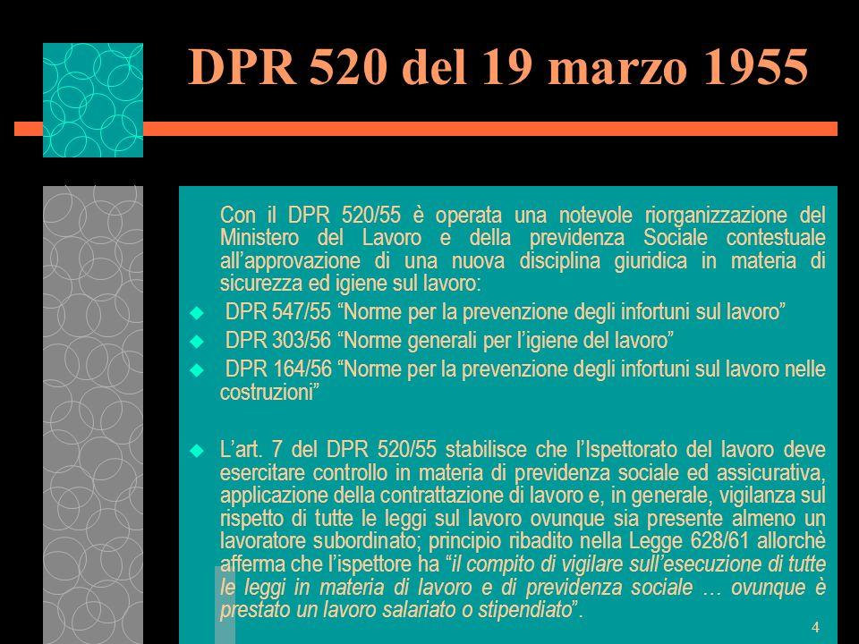 DPR 520 del 19 marzo 1955