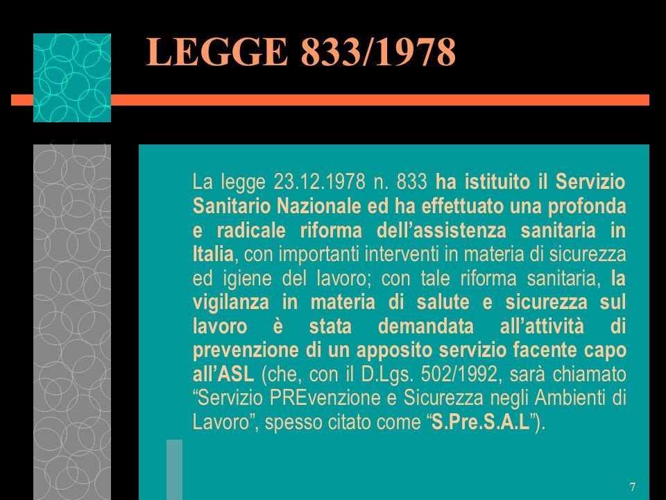 LEGGE 833/1978