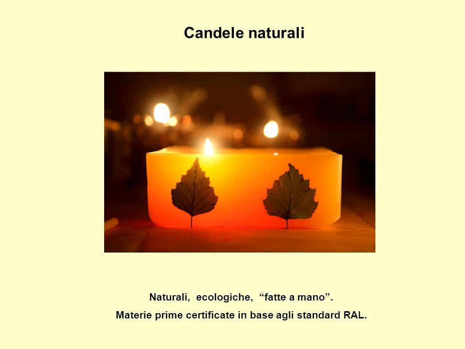 Candele naturali Naturali, ecologiche, fatte a mano .
