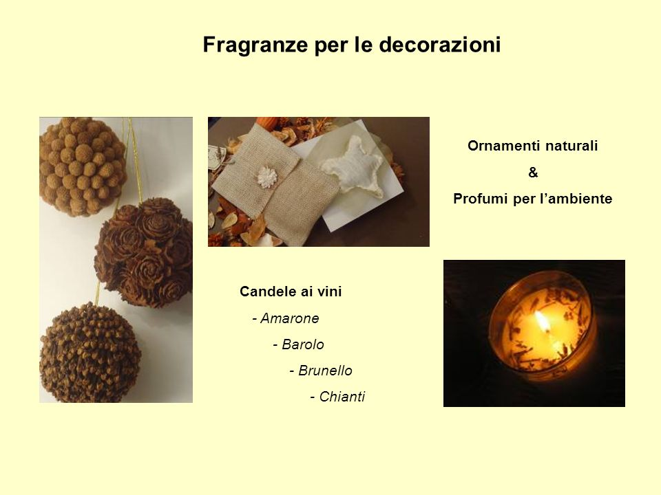 Fragranze per le decorazioni