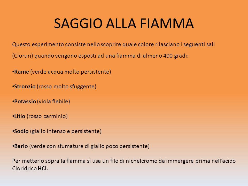 SAGGIO ALLA FIAMMA