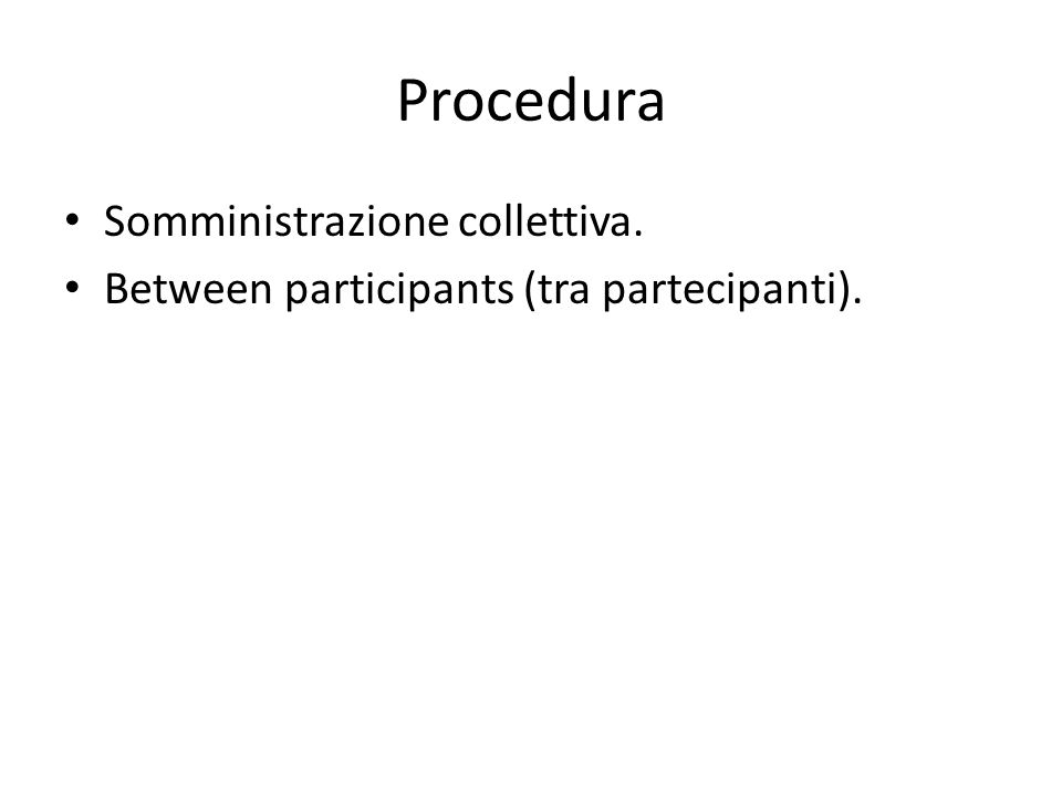 Procedura Somministrazione collettiva.