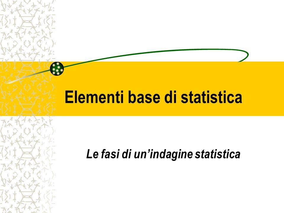 Elementi base di statistica