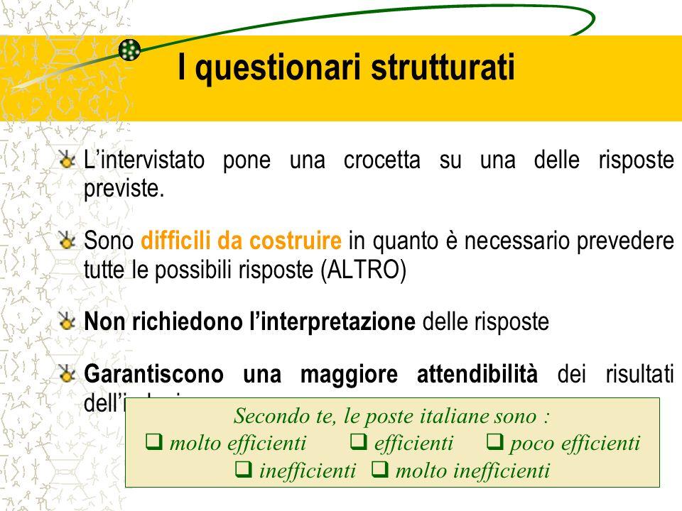 I questionari strutturati