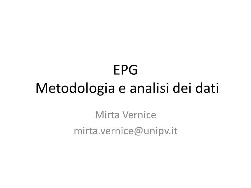 EPG Metodologia e analisi dei dati