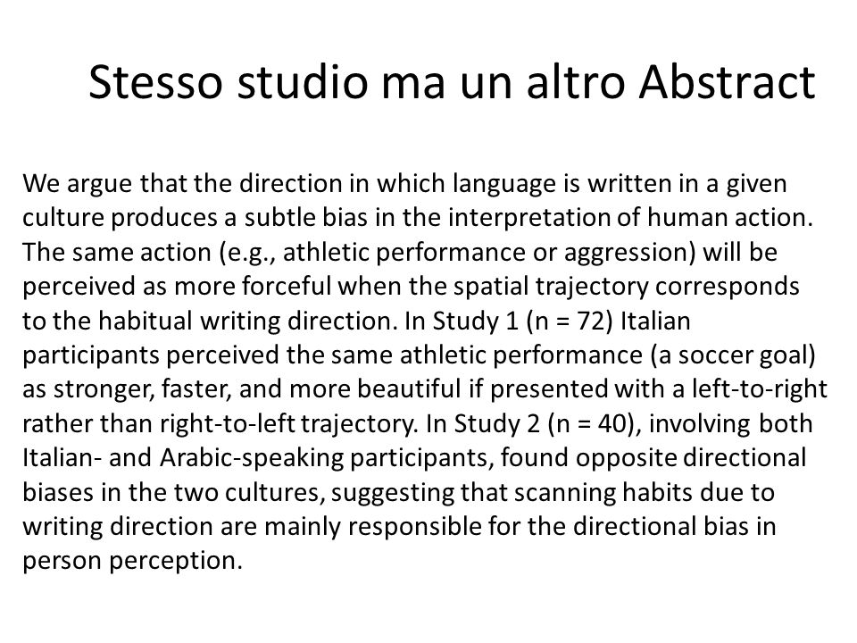 Stesso studio ma un altro Abstract