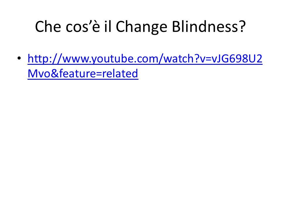 Che cos'è il Change Blindness