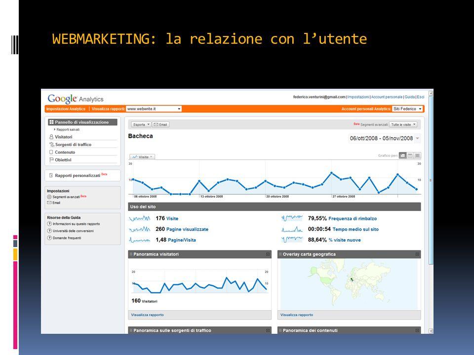 WEBMARKETING: la relazione con l'utente