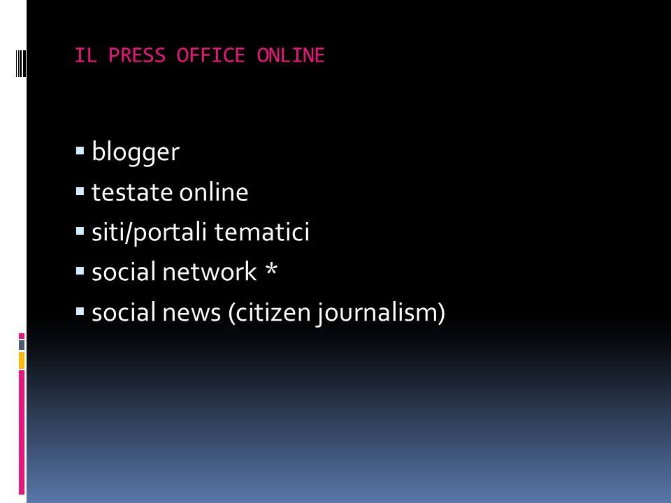 siti/portali tematici social network *