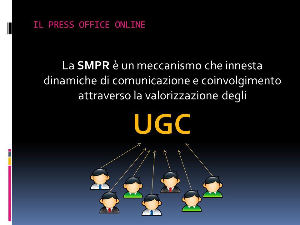 IL PRESS OFFICE ONLINE La SMPR è un meccanismo che innesta dinamiche di comunicazione e coinvolgimento attraverso la valorizzazione degli.