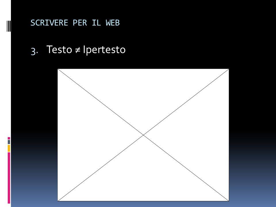 SCRIVERE PER IL WEB Testo ≠ Ipertesto