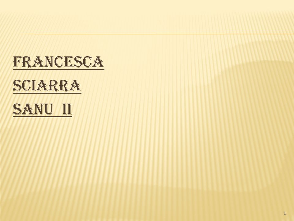 Francesca Sciarra Sanu II