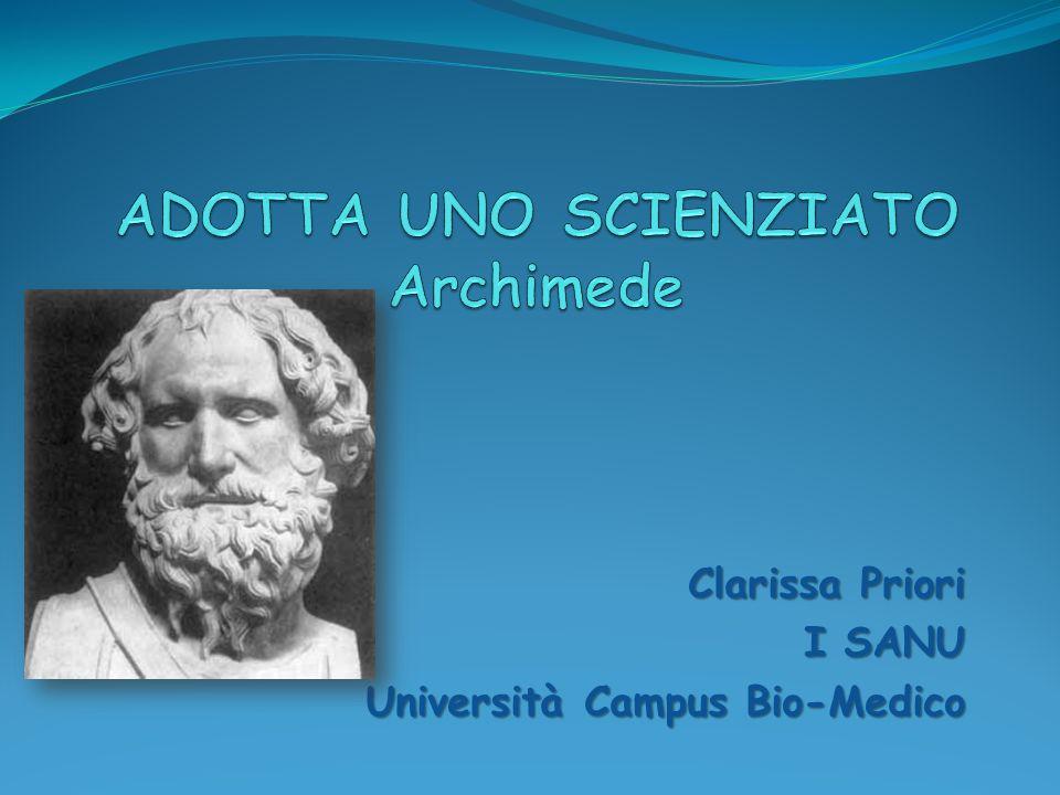 ADOTTA UNO SCIENZIATO Archimede