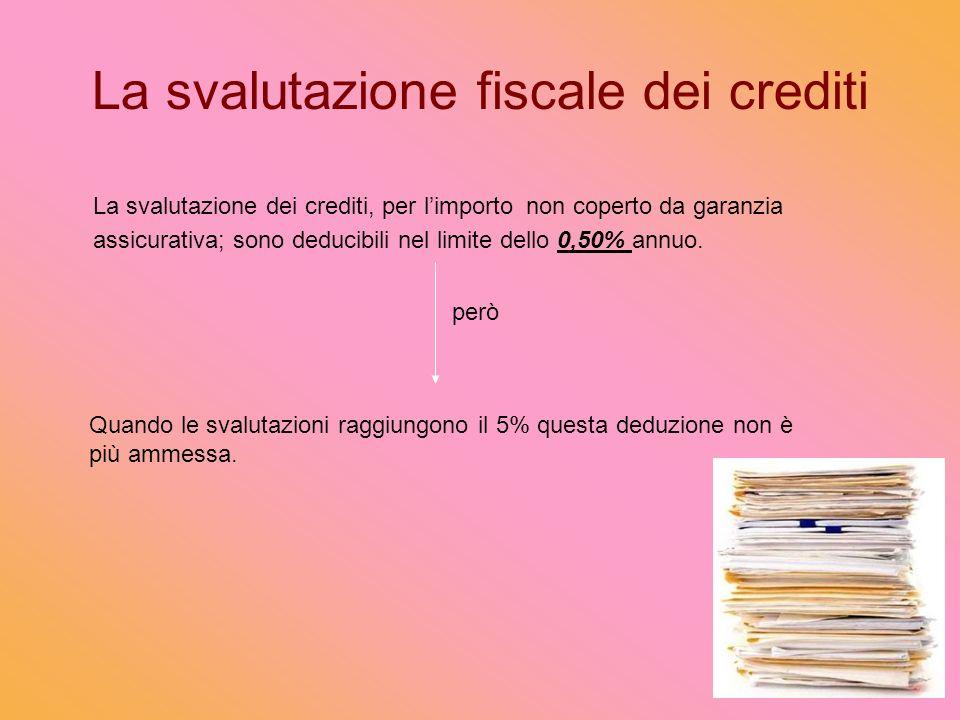 La svalutazione fiscale dei crediti