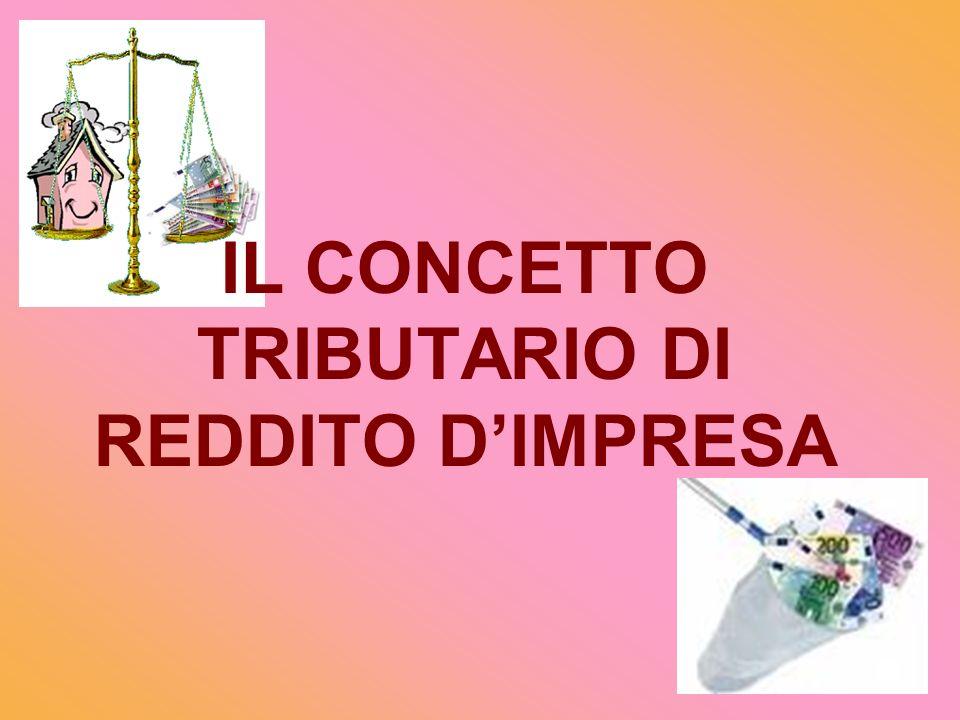 IL CONCETTO TRIBUTARIO DI REDDITO D'IMPRESA