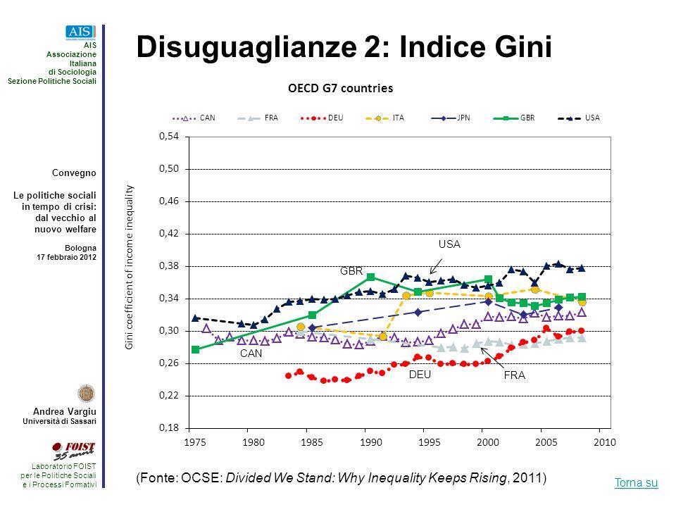 Disuguaglianze 2: Indice Gini