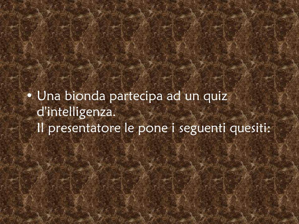 Una bionda partecipa ad un quiz d intelligenza