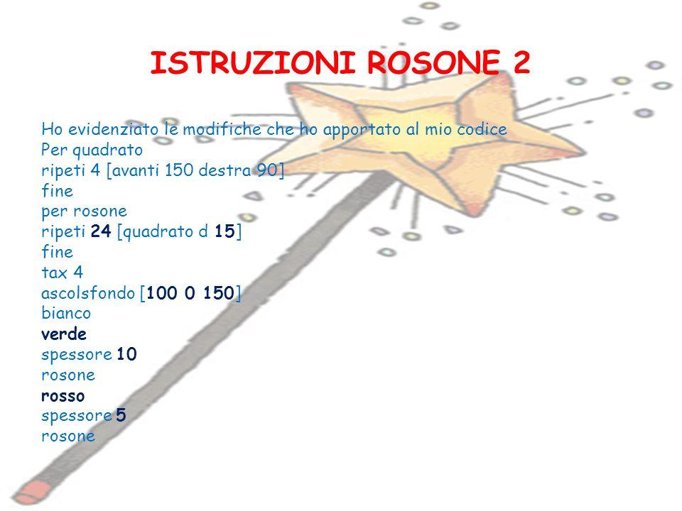 ISTRUZIONI ROSONE 2
