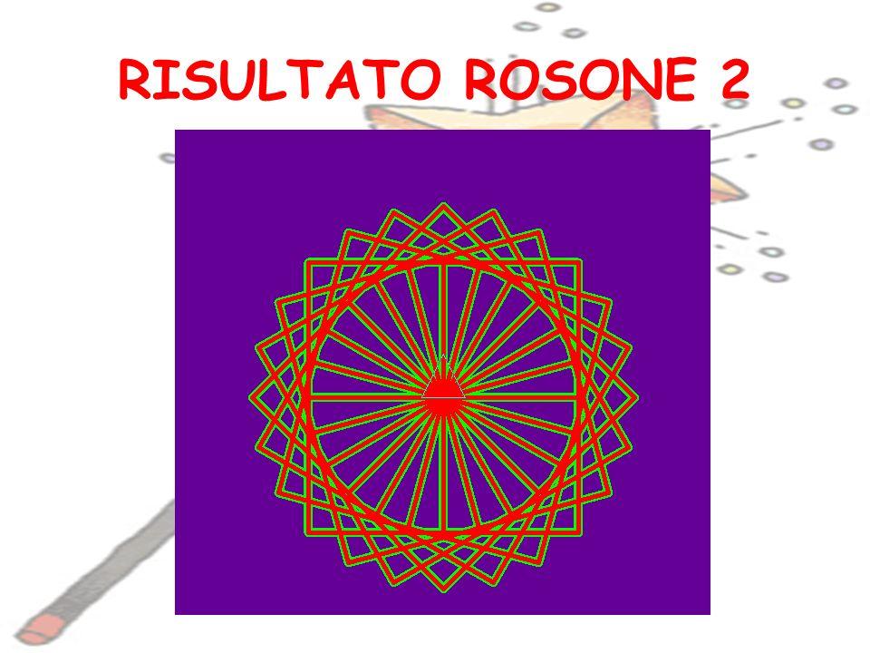 RISULTATO ROSONE 2