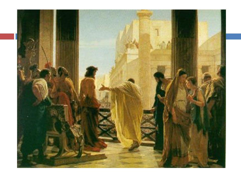 Le autorità giudaiche (il Sinedrio) lo fecero arrestare a Gerusalemme e lo accusarono di fronte a Ponzio Pilato di disturbo dell'ordine pubblico e istigazione alla sommossa contro l'Imperatore romano.