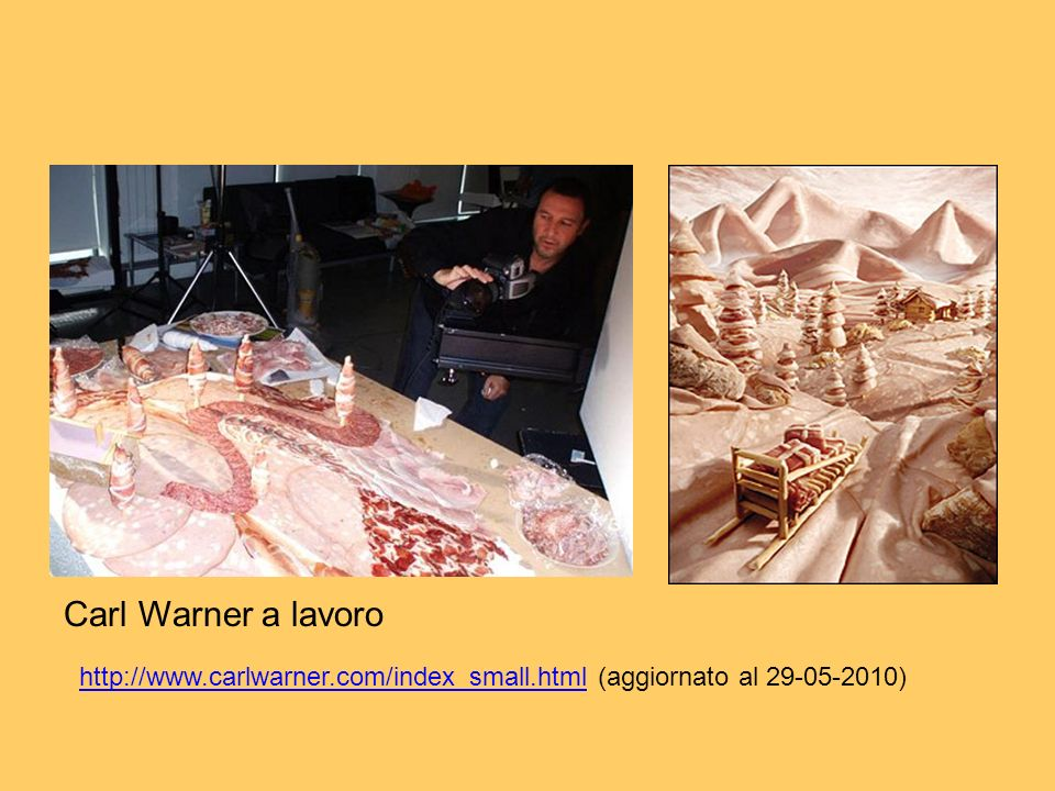Carl Warner Carl Warner a lavoro