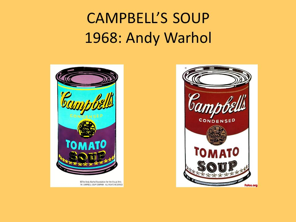 CAMPBELL'S SOUP 1968: Andy Warhol
