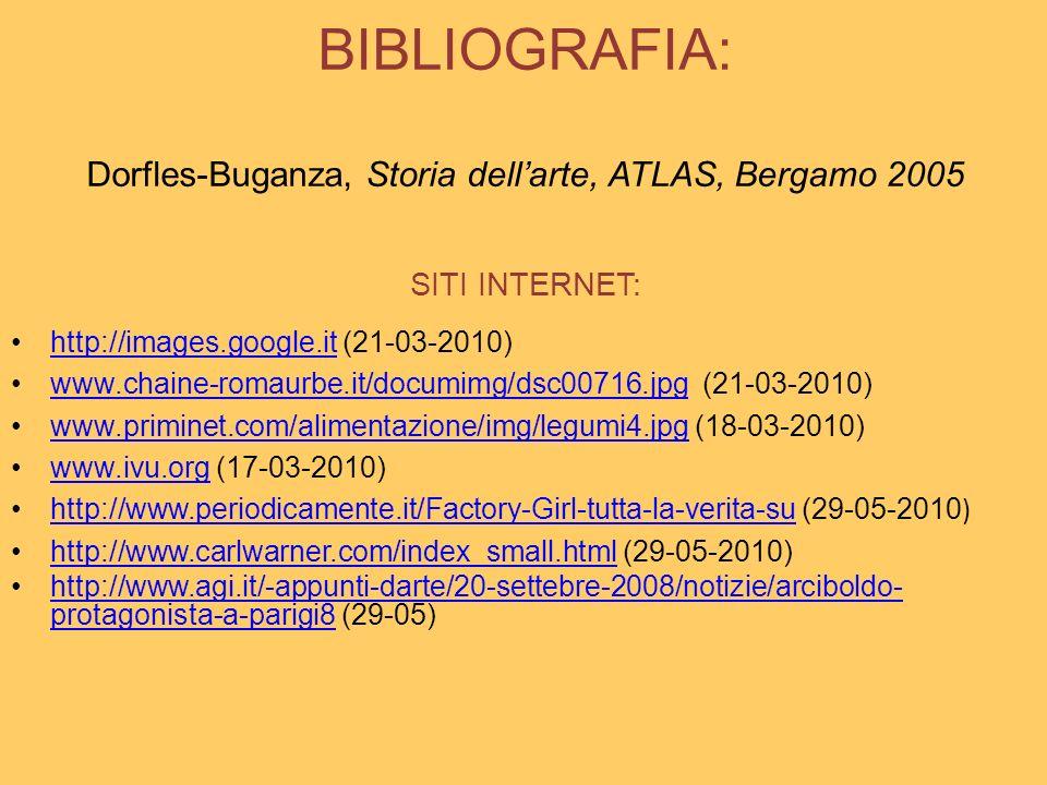 BIBLIOGRAFIA: Dorfles-Buganza, Storia dell'arte, ATLAS, Bergamo 2005 SITI INTERNET: