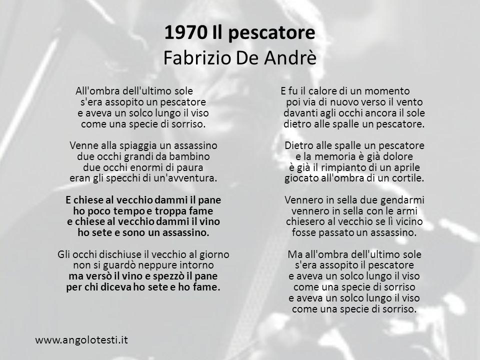 1970 Il pescatore Fabrizio De Andrè