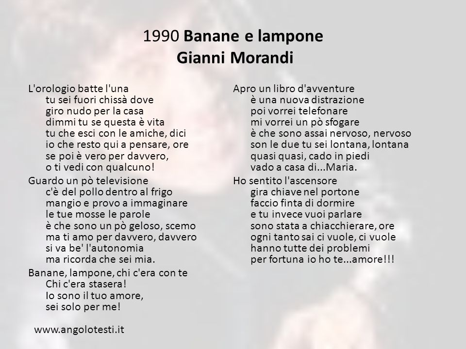 1990 Banane e lampone Gianni Morandi
