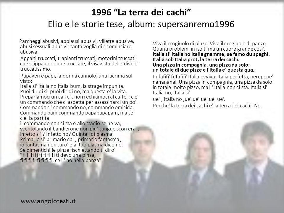 1996 La terra dei cachi Elio e le storie tese, album: supersanremo1996