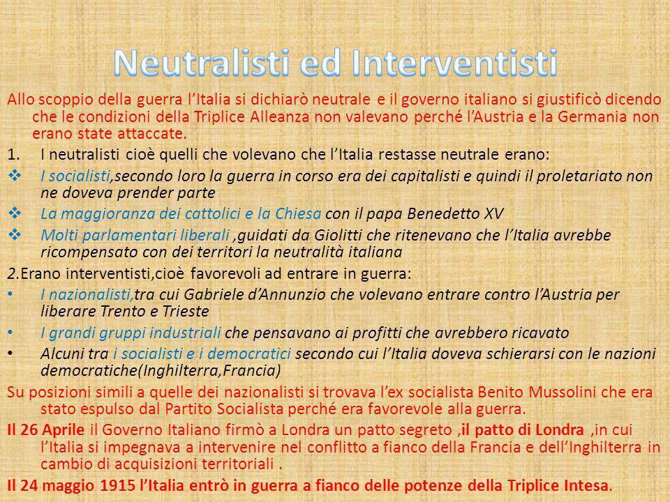 Neutralisti ed Interventisti