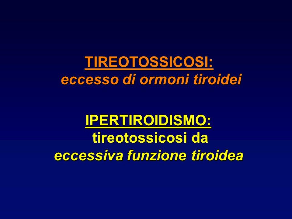 eccesso di ormoni tiroidei eccessiva funzione tiroidea