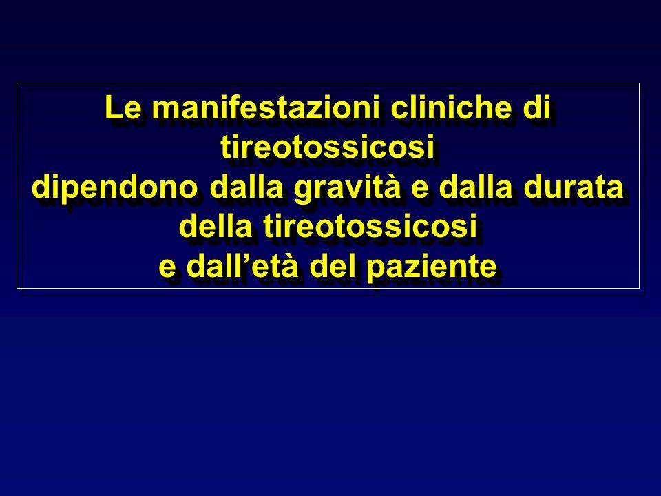 Le manifestazioni cliniche di tireotossicosi