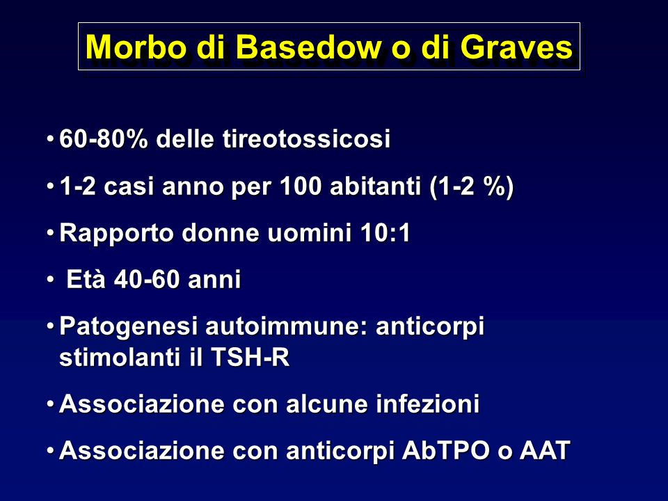Morbo di Basedow o di Graves
