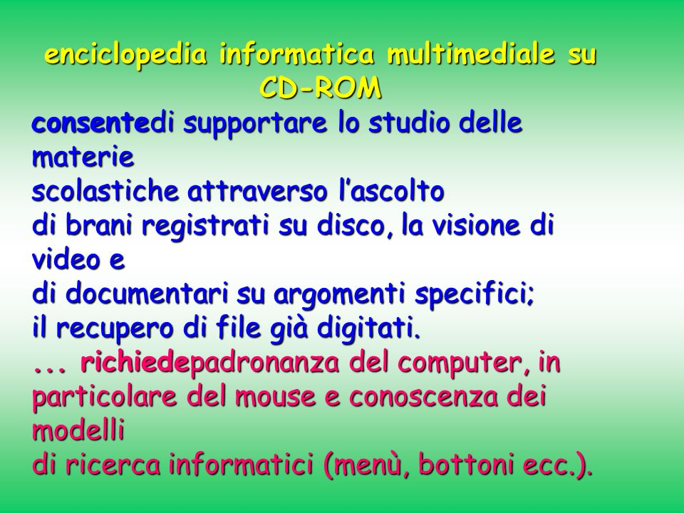 enciclopedia informatica multimediale su CD-ROM