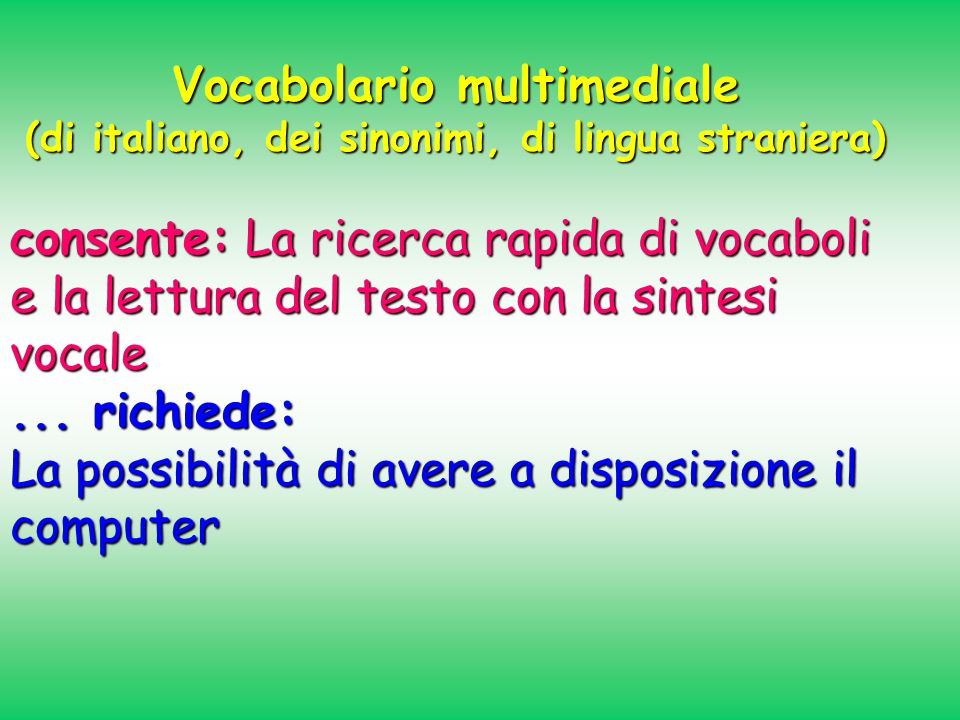 Vocabolario multimediale