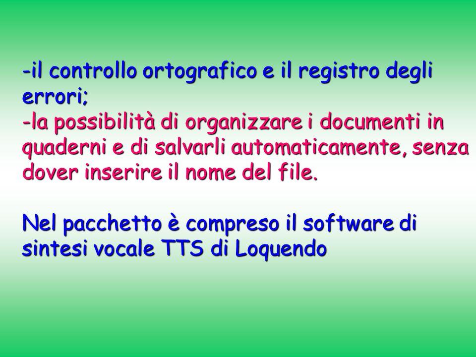 -il controllo ortografico e il registro degli