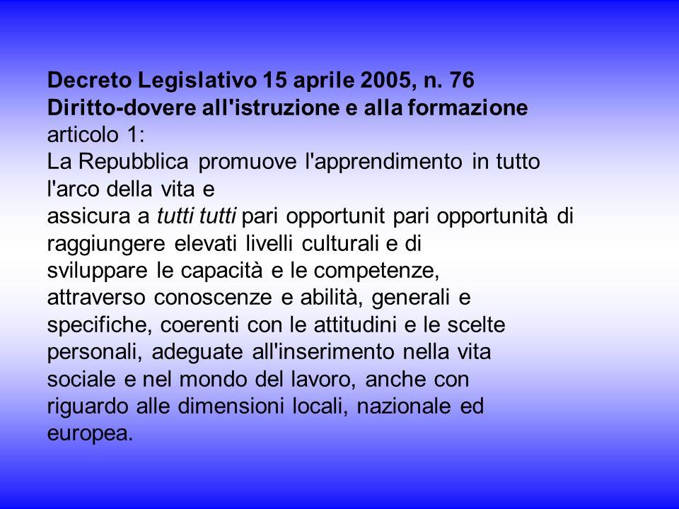 Decreto Legislativo 15 aprile 2005, n. 76