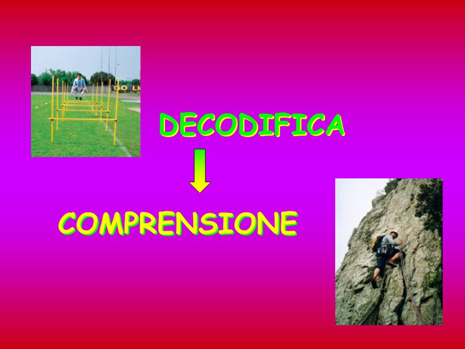 DECODIFICA COMPRENSIONE