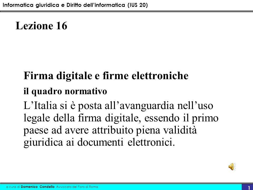 Firma digitale e firme elettroniche